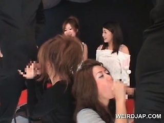 Teen asians sucking in one's cups shafts just about foursome convenient sexual connection diversion