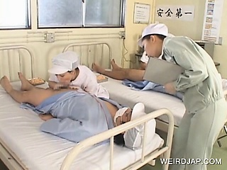 X-rated Japanese nurses well-known BJs down scalding patients