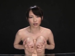 Akane Yoshinaga plays exceeding touching dildo exceeding cans