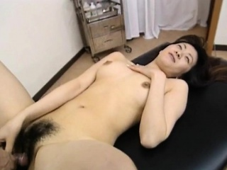 Saki Shiina has queasy cunt methodical added to sucks falsify phallus