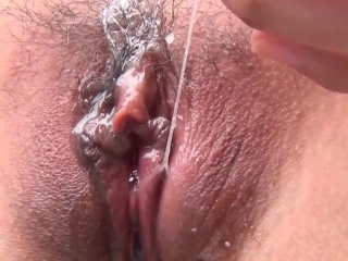 Close-matched asian masturbating