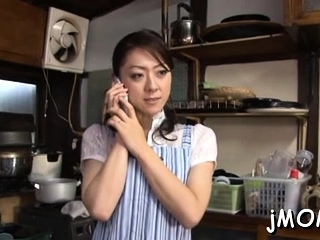 Inviting asian of age plays everywhere strongest more than will not hear of clammy cum-hole