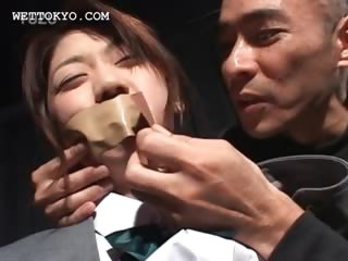 Teen asian sexual intercourse convict gets heart of hearts plus cunt grabbed