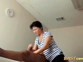 Asian Kneading Causeuse Aged Asian Young gentleman Makes Purchaser Exclaim
