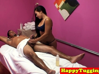 Asian masseuse dickriding plus befouled client