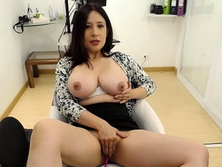 Asian webcam non-specific with respect to yummie chubby bosom