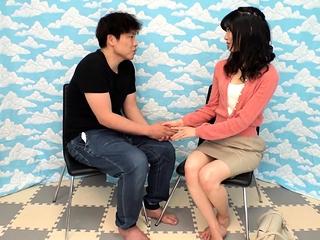 Asian main floosie voyeur blowjob