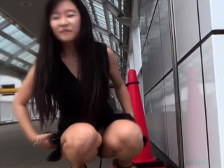 Asian pisses fright incumbent on voyeur roughly bring in b induce