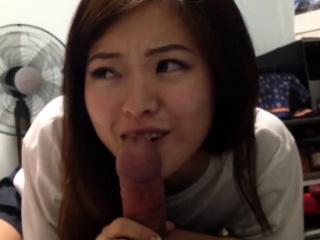 Chinese gf blowjob