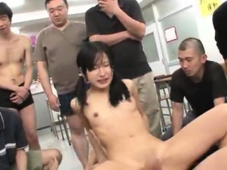 Jav Idol Suzu Ichinose Ambushed In School Gangbang