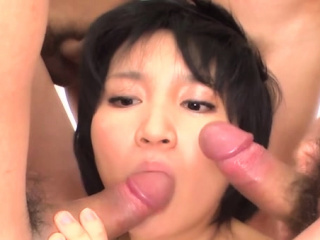 Japanese sweetheart delights her twat and anal fro sex toys