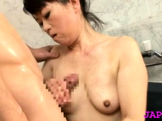 Stunning older japanese be keen on gets her wide-ranging mounds felt up