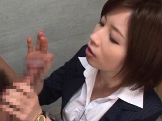 Adorable Saki Okuda performed love rocket spastic in feeling