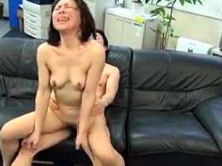 Asian slut Kana Kawai double blowjob and hardcore