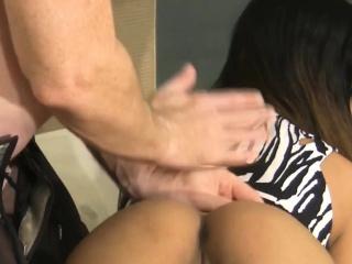 Asian cute coddle gets abiding nailed