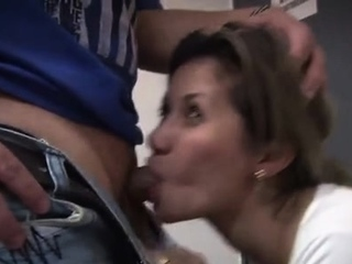Happy doxy with a charming face gets fucked by a dude