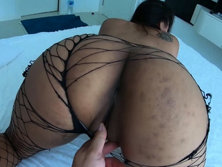 Asian girlfriend rubs her tight pussy together with moans loudly