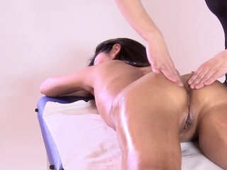 First time massage masking be required of hot virgin Asian