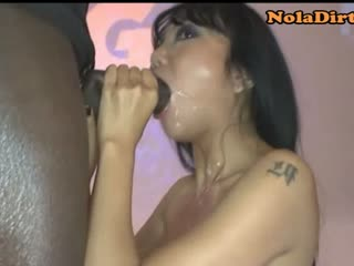 Well-shaped Asian Bukkake Porn