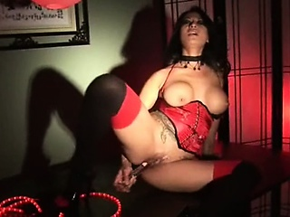 Frolicsome korean explicit masturbates