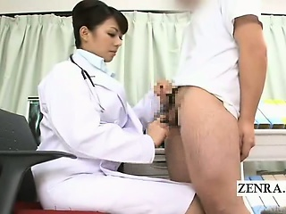 Subtitled CFNM Japanese water down handjob educational